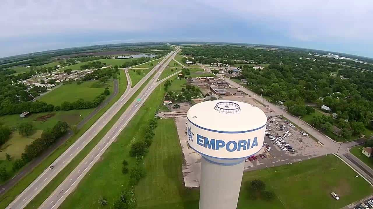 emporia kansas water tower