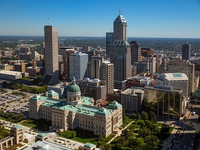 aerial view of indianapolis indiana